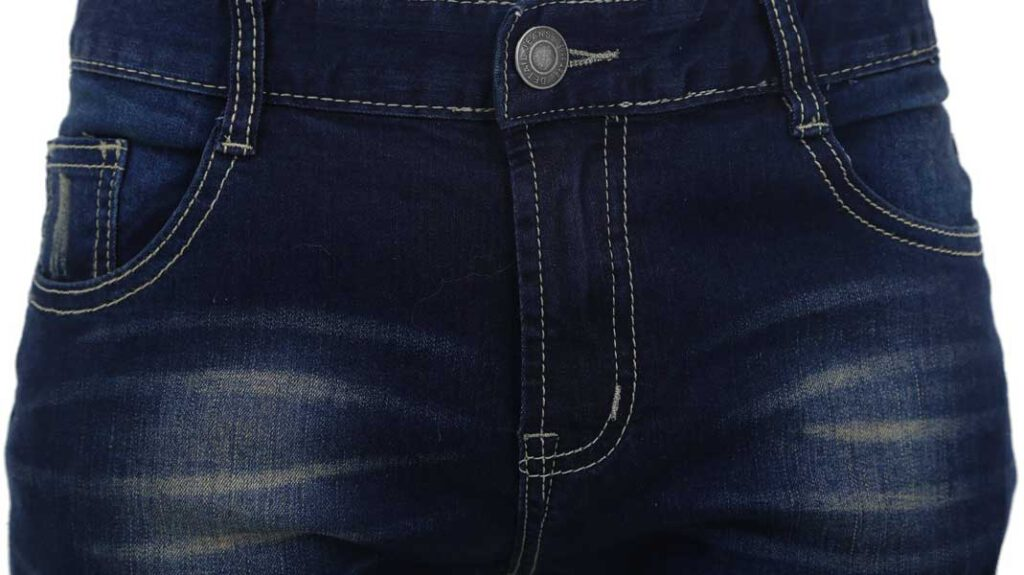 Whiskering bei Jeans